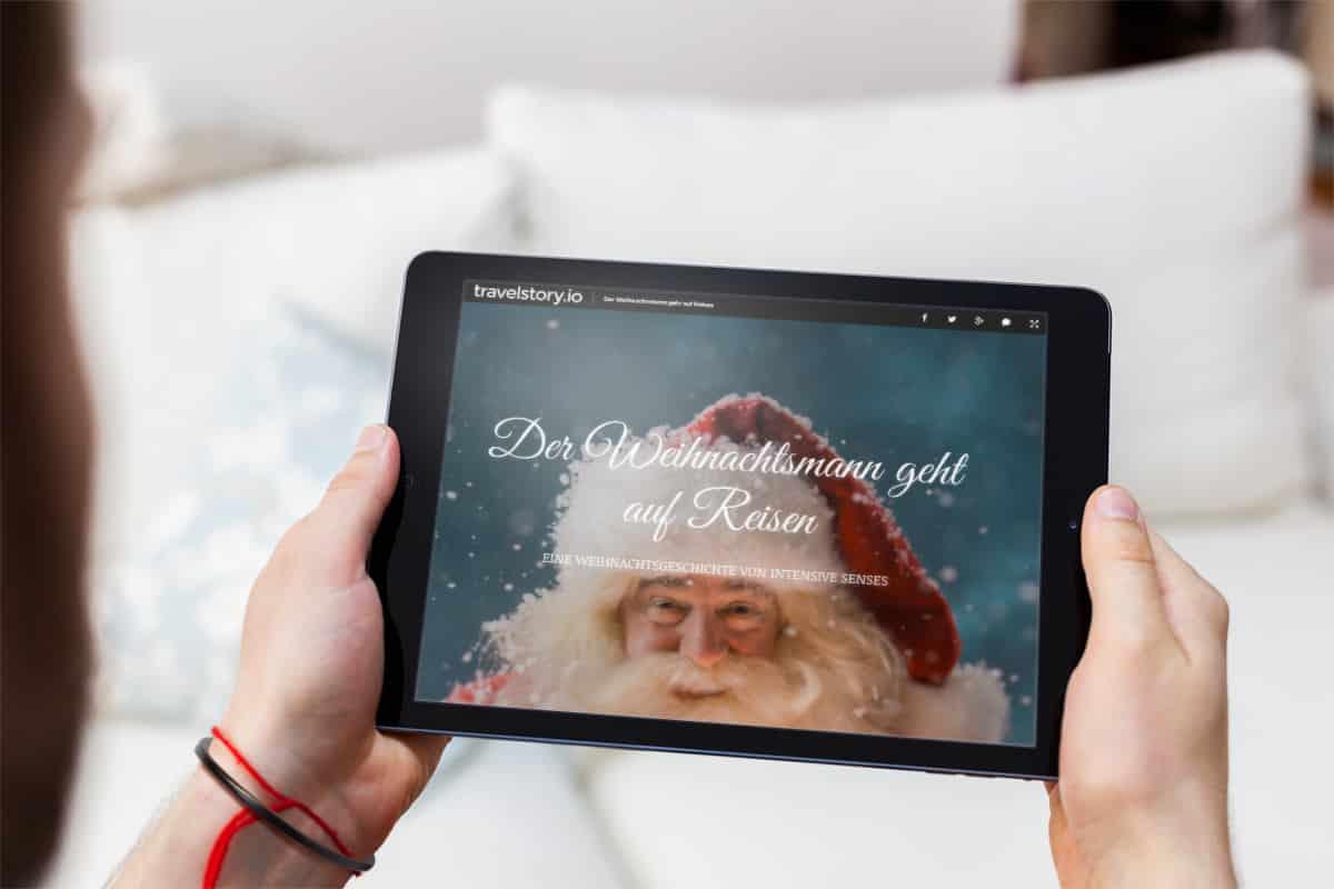 Weihnachtsgeschichte vom Weihnachtsmann mit travelstory.io