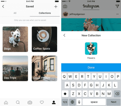 Instagram Sammlungen